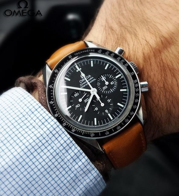 Omega Speedmaster Professional Brown Leather Strap